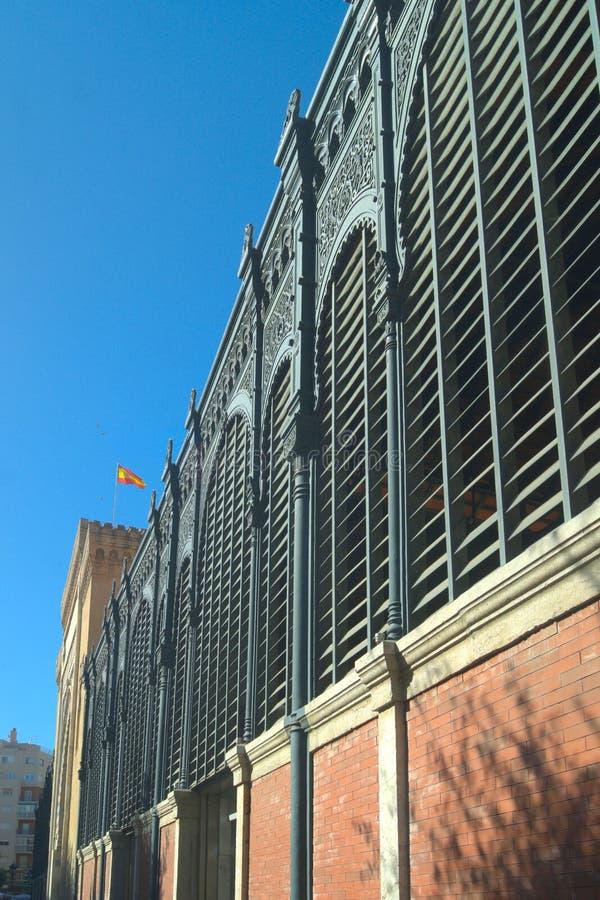 Hiszpania, Malaga Ataranzas rynek Boczny widok Ja jest architektonicznym klejnotem który rozciąga się okres od Cumuje, obrazy royalty free