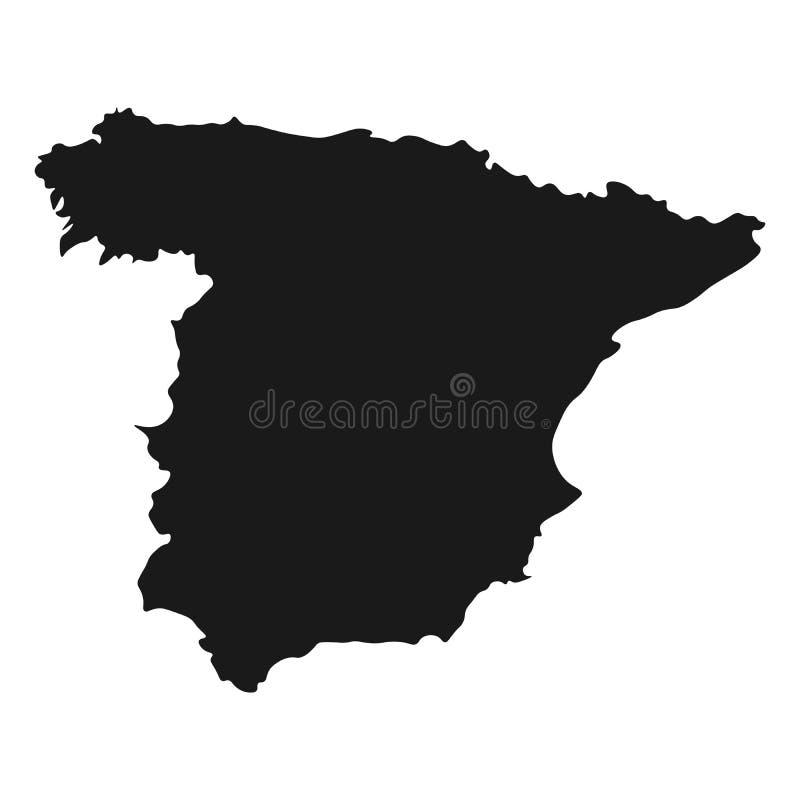 Hiszpania mapy wektor ilustracyjnego kraju odosobniony tło royalty ilustracja