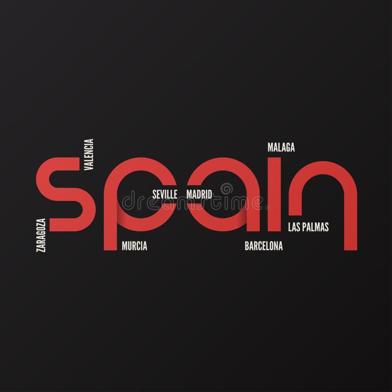 Hiszpania odzieży i koszulki wektorowy projekt, typografia, druk, logo ilustracji