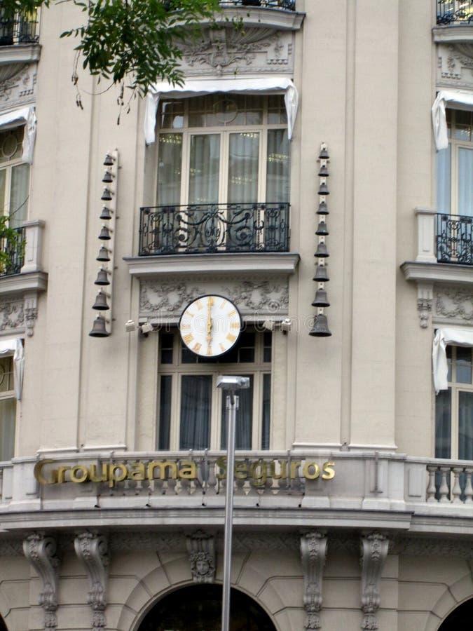 Hiszpania osiąga z chime Plus Ultra buduje Groupama, Madryt - obraz royalty free