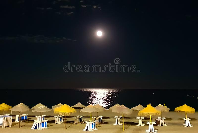 Hiszpania plaża Malaga fotografia stock