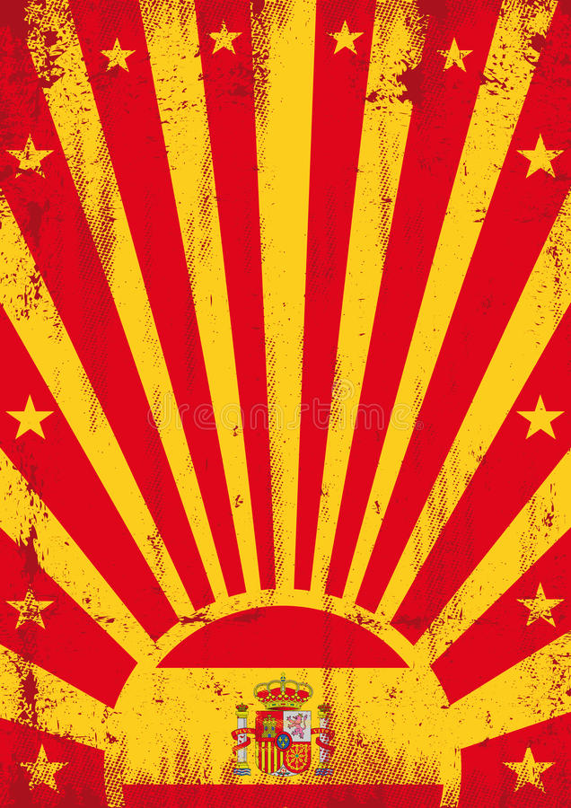 Hiszpania rocznika sunbeams ilustracji