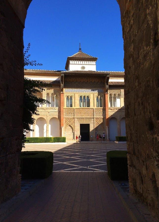 Hiszpania Sevilla Alcazar pałac zdjęcia stock