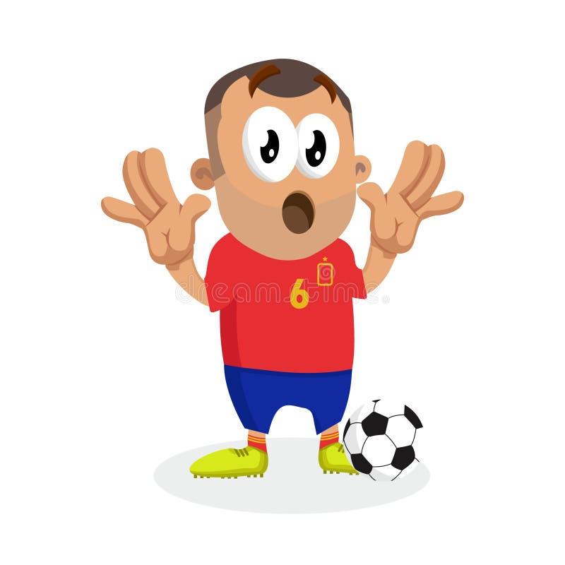 Hiszpania tła i maskotki niespodzianki poza ilustracja wektor