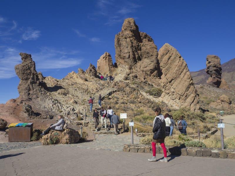 Hiszpania, wyspy kanaryjska, Tenerife, El Teide park narodowy, Grudzień fotografia stock