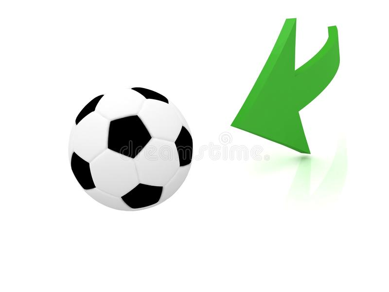 Download Hit The Ball In Soccer Stock Image - Image: 24310311