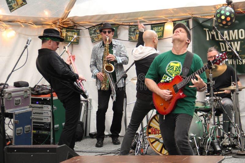 Hit Band guitarist royalty free stock photos