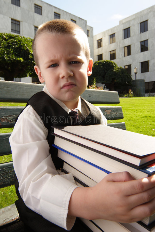 Hit the Books royalty free stock photography