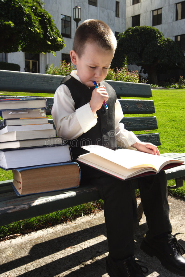 Hit the Books royalty free stock photo