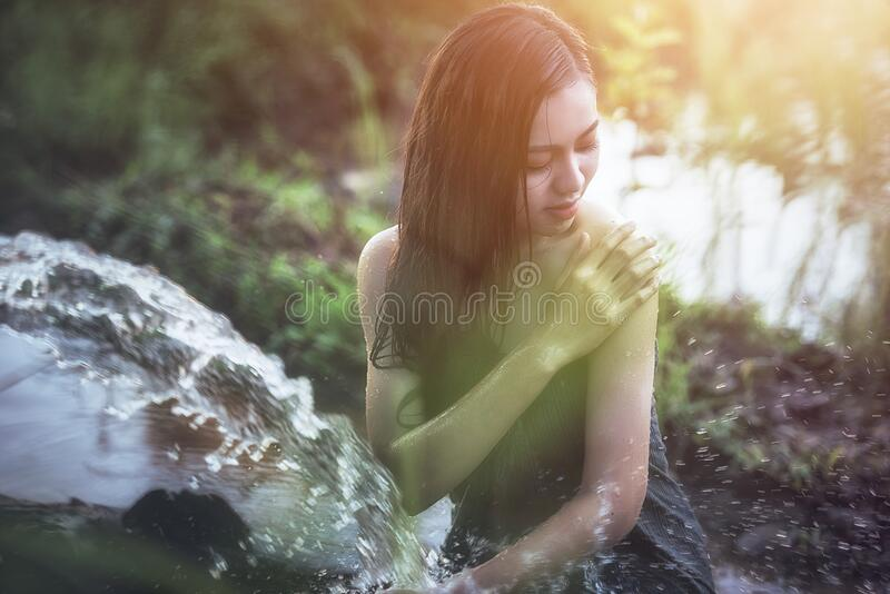 Hit me like the ray of sun. Thailand royalty free stock photography
