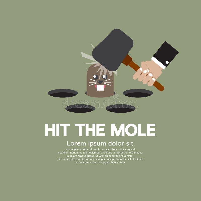 Hit The Mole Fun Game royalty free illustration