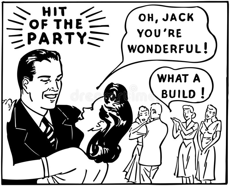 Hit Of The Party stock illustration