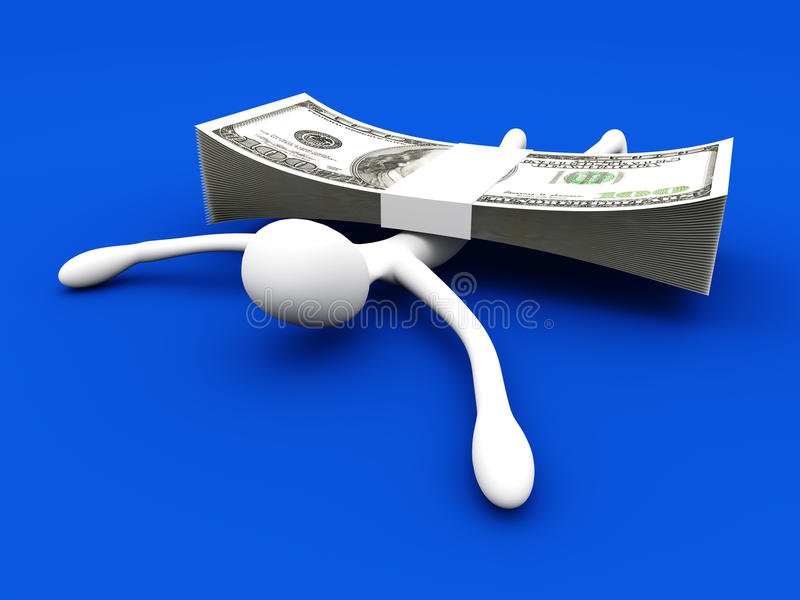 Download Hit by Profit stock illustration. Illustration of disability - 25950308