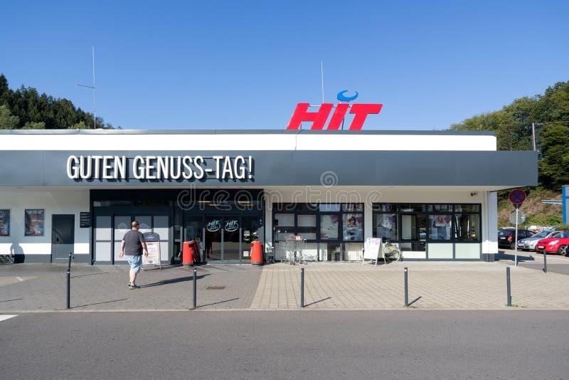 HIT-stormarknaden i Gummersbach, Tyskland royaltyfri bild