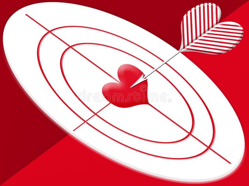 Hit target heart vector illustration