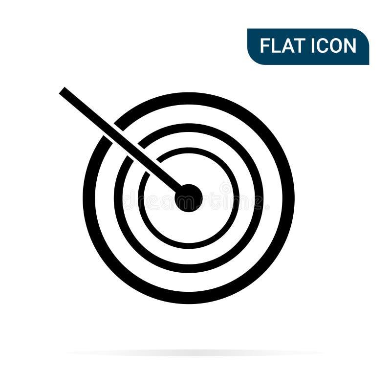 Hit target icon royalty free illustration