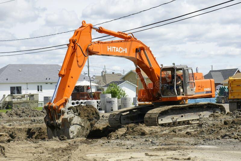 Download Hitachi orange digger editorial stock image. Image of equipment - 36997759