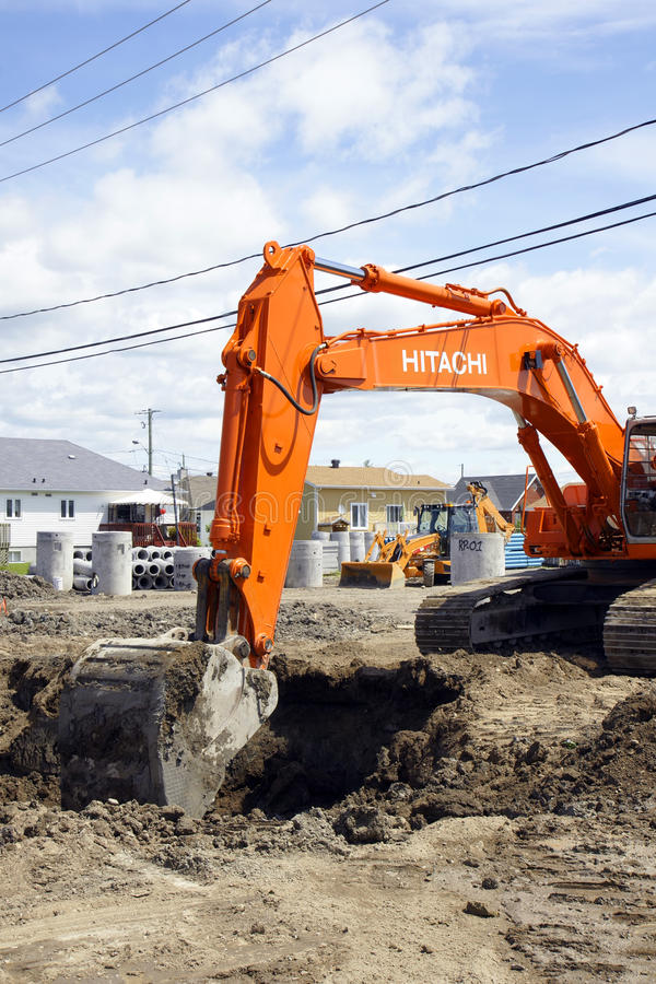 Download Hitachi Orange Digger And Deep Hole Editorial Stock Photo - Image: 36997748