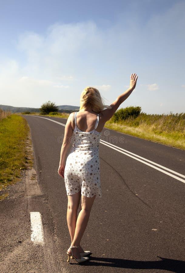 hitchhiker сексуальный стоковая фотография rf
