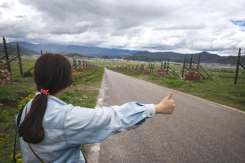 hitchhiker στοκ εικόνα με δικαίωμα ελεύθερης χρήσης