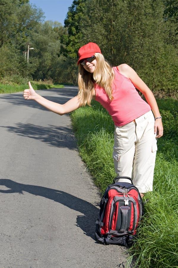 Hitchhiker fotografie stock libere da diritti