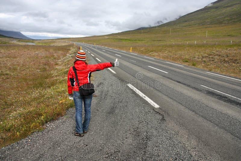 Hitchhiker royaltyfri bild