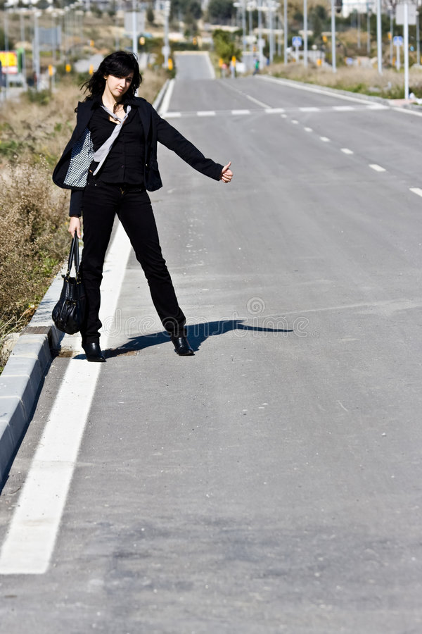 Hitchhiker fotografie stock
