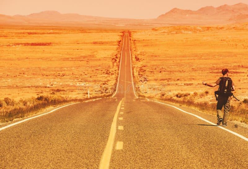 Hitchhiker στοκ εικόνες με δικαίωμα ελεύθερης χρήσης