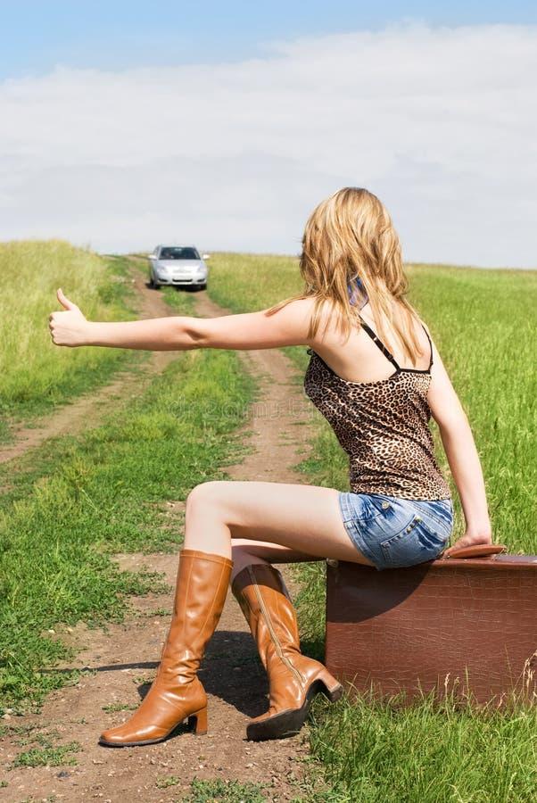 hitchhiker arkivbild