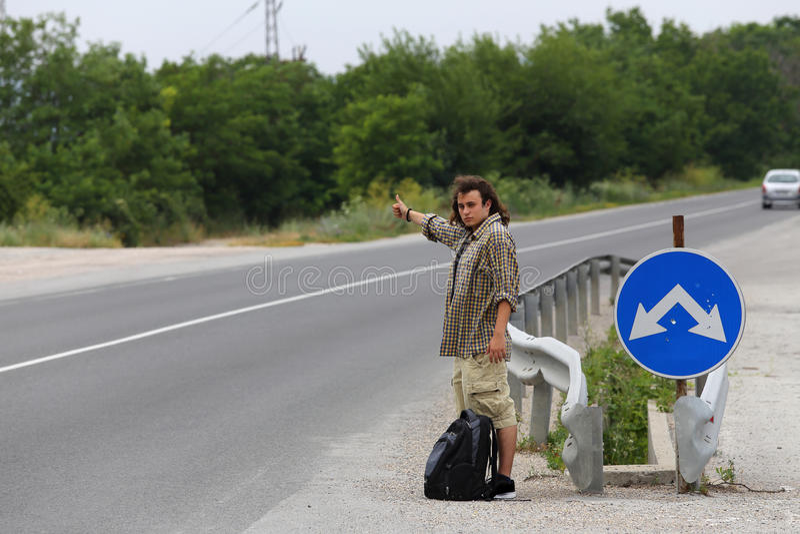 hitchhiker fotografia stock libera da diritti