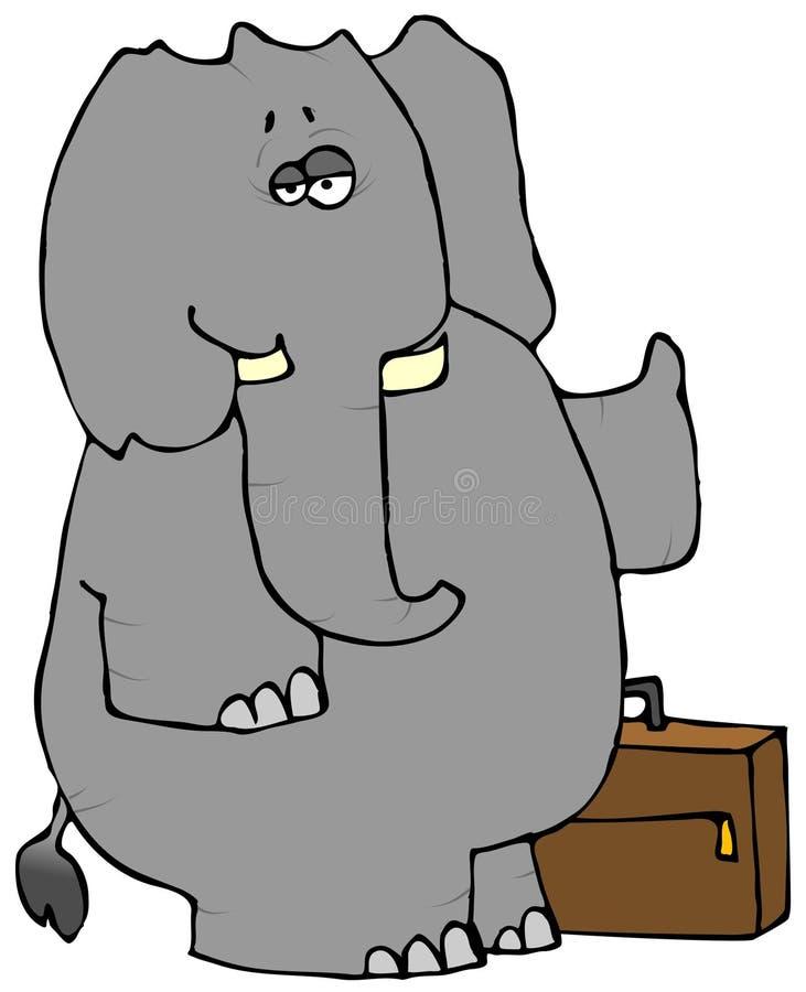 Hitchhiker dell'elefante illustrazione di stock