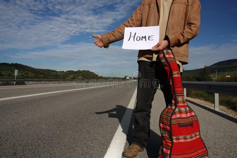 Hitchhiker di libertà fotografie stock libere da diritti