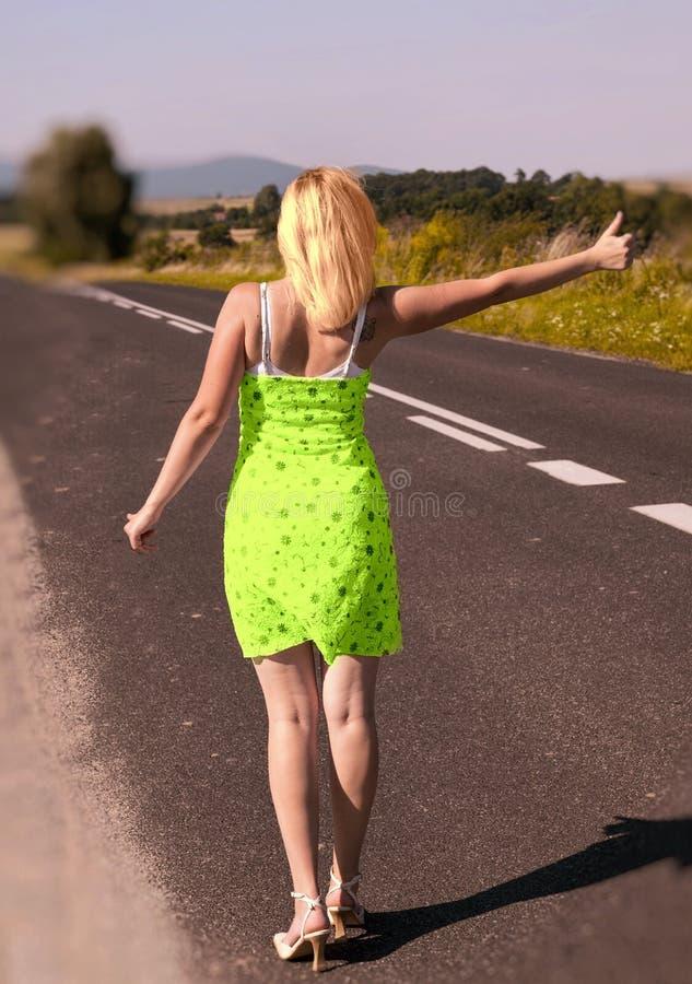 Hitchhiker sexy fotografia stock