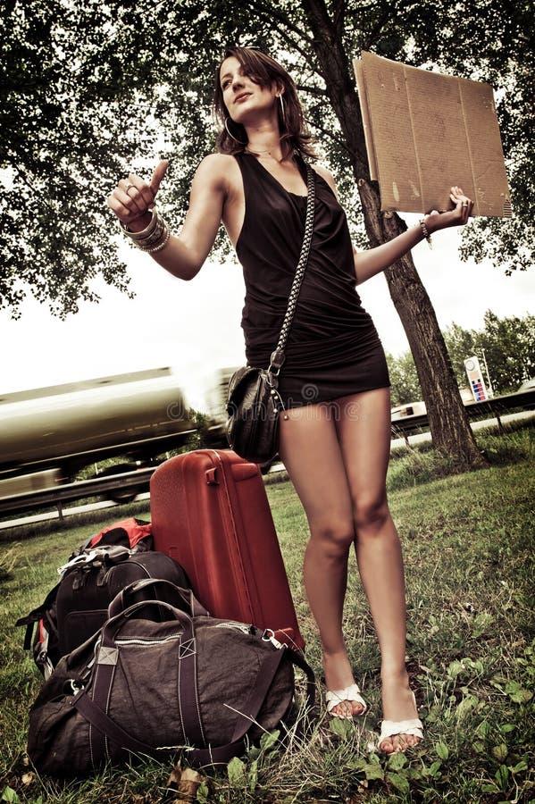 hitchhiking стоковое фото