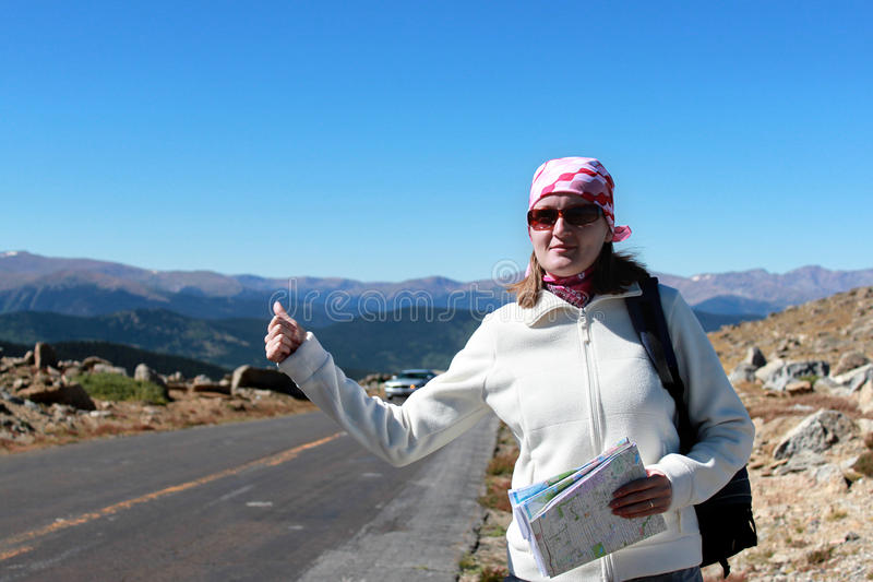 Download Hitchhiking stock photo. Image of holiday, driving, hiker - 16120930