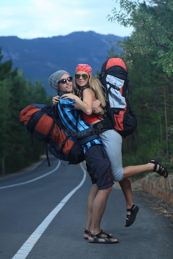 Hitchhiking royalty free stock photo