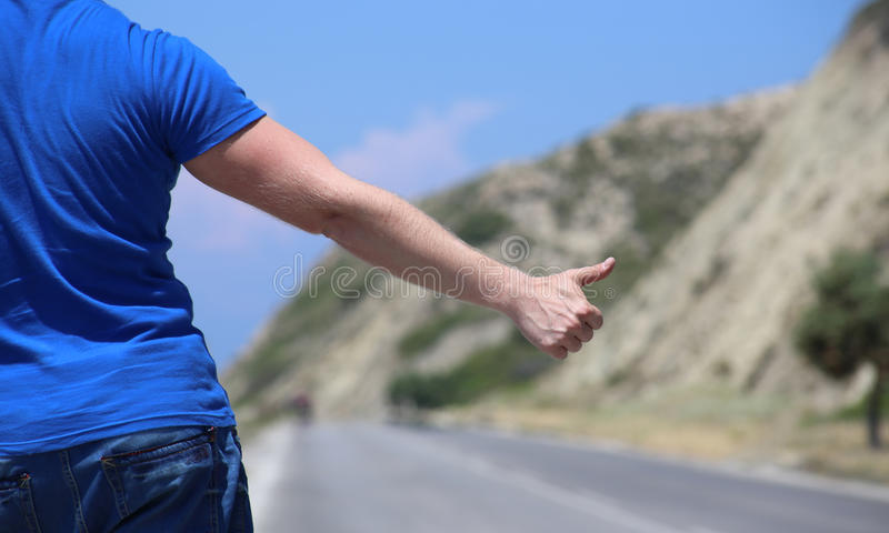 Download Hitchhiking stock image. Image of stop, thumbs, hitchhike - 25602579
