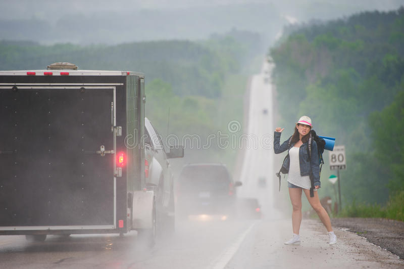 hitchhiking foto de archivo libre de regalías
