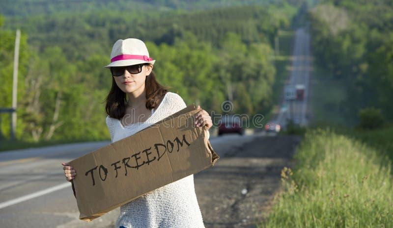 hitchhiking imagen de archivo