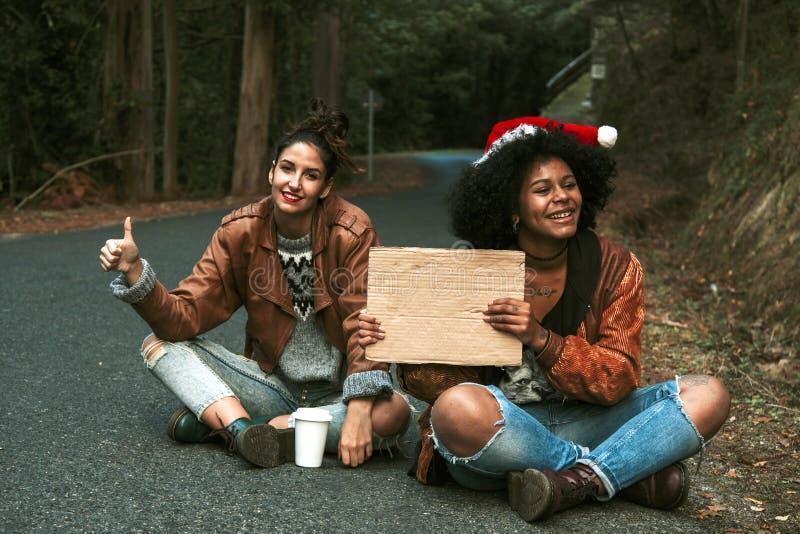 hitchhiking fotografía de archivo