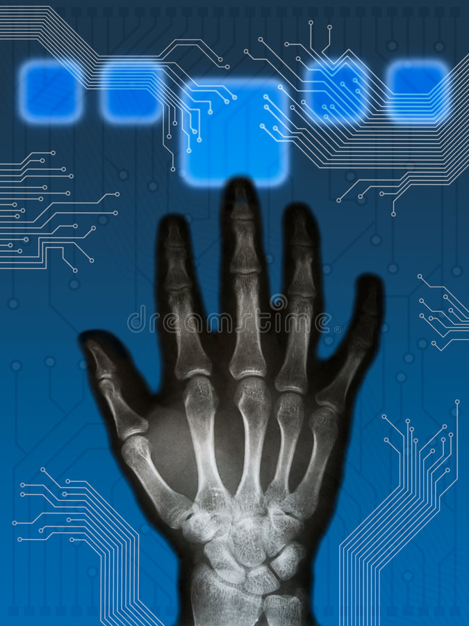 Hitech hand vector illustration