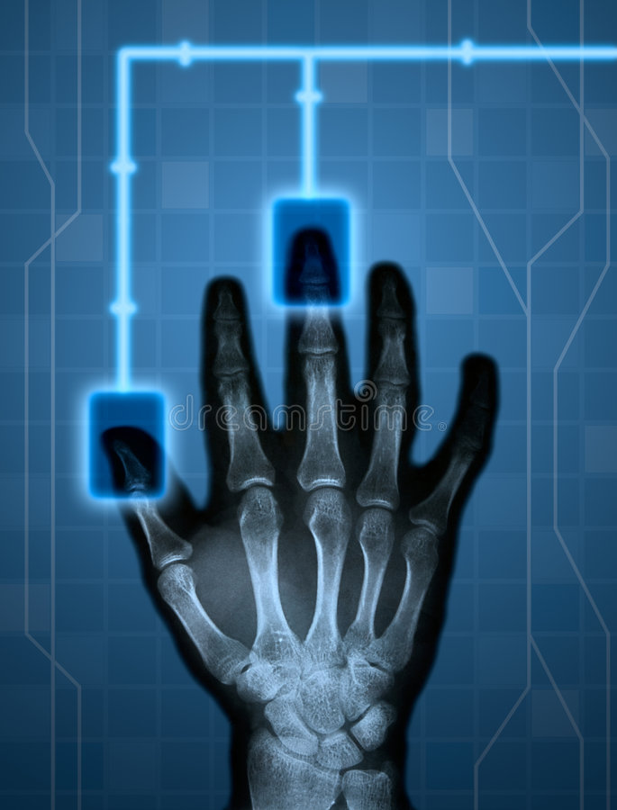 Hitech hand royalty free illustration