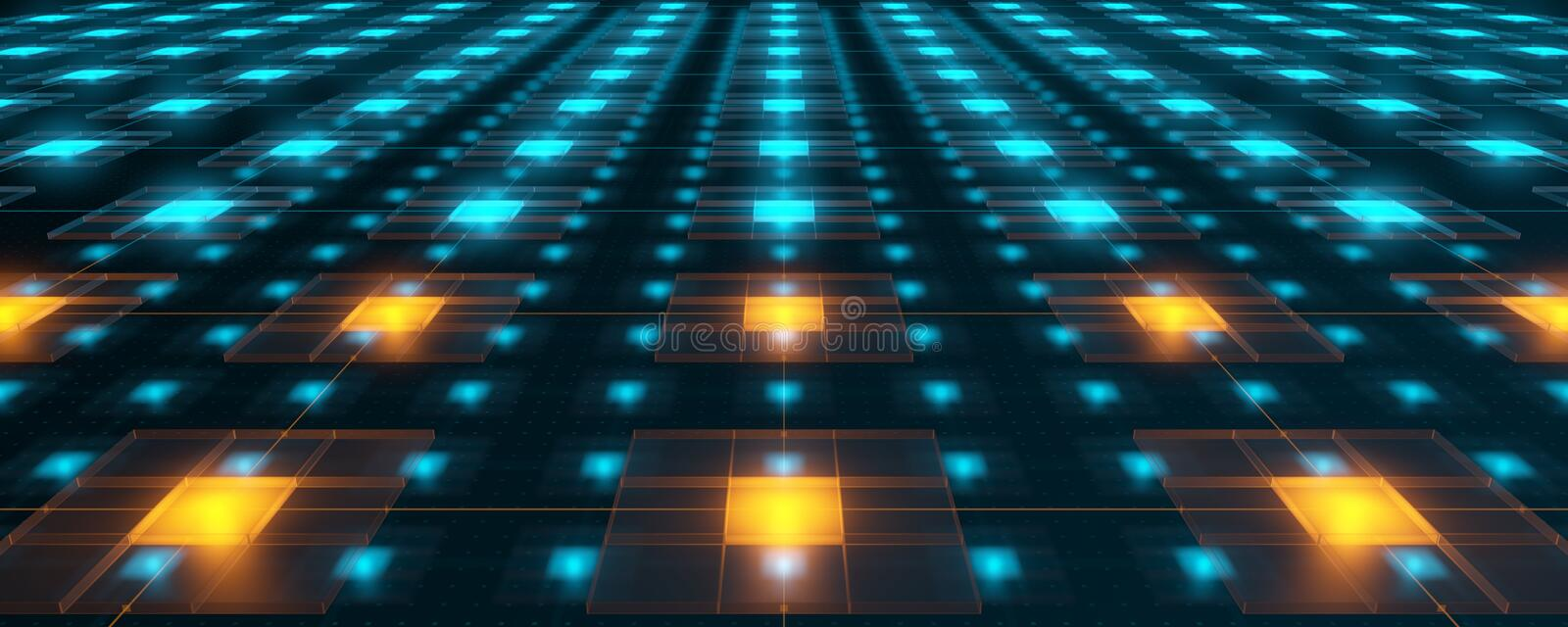 Hitech networks. With overheat cores stock images