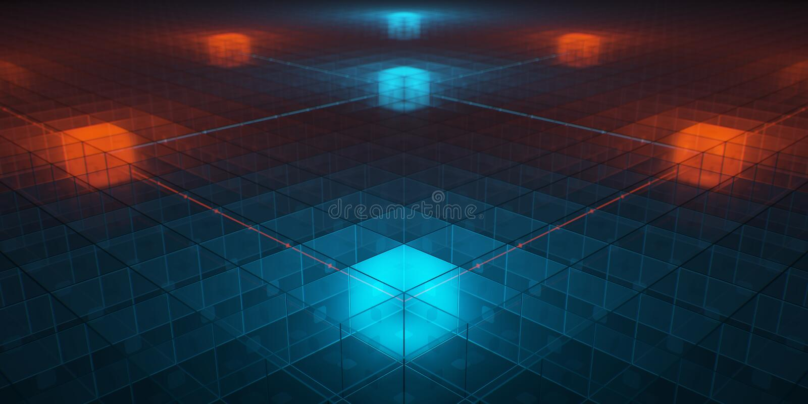 Hitech networks. With overheat cores royalty free stock photo