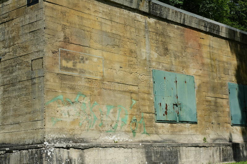 Hitler bunker in Margival, Aisne, Picardie in het noorden van Frankrijk stock afbeeldingen