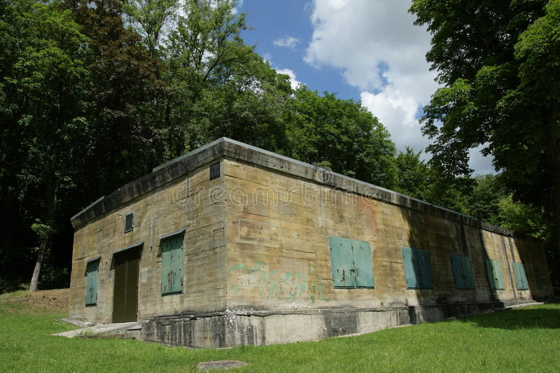 Hitler bunker in Margival, Aisne, Picardie in het noorden van Frankrijk royalty-vrije stock afbeelding