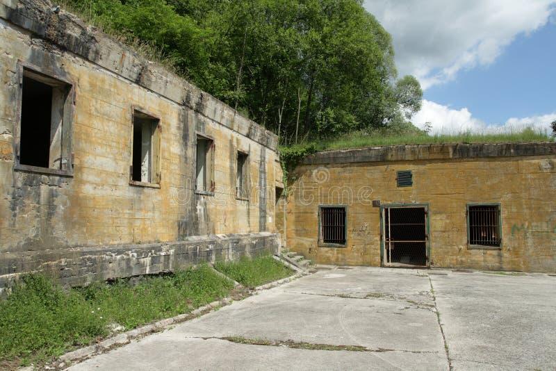 Hitler bunker in Margival, Aisne, Picardie in het noorden van Frankrijk stock foto