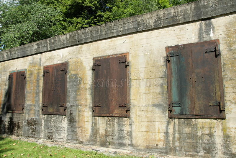 Hitler bunker in Margival, Aisne, Picardie in het noorden van Frankrijk royalty-vrije stock fotografie