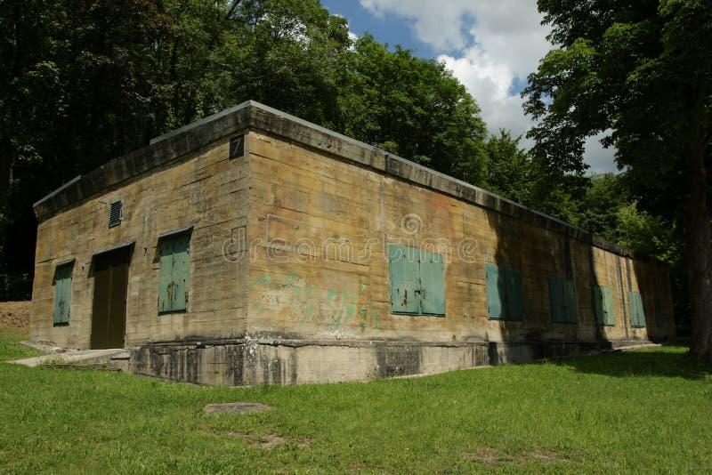 Hitler bunker in Margival, Aisne, Picardie in het noorden van Frankrijk stock afbeelding