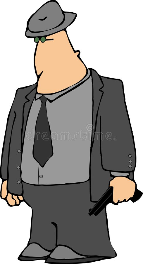 hitman gangster royalty ilustracja